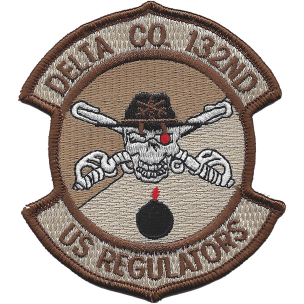 132nd Aviation Cavalry Regiment Delta Company Patch Desert