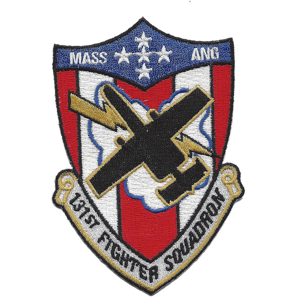 131st Fighter Squadron Mass. Air National Guard Patch