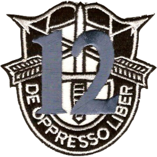 12th Special Forces Group Crest Blue 12 Patch