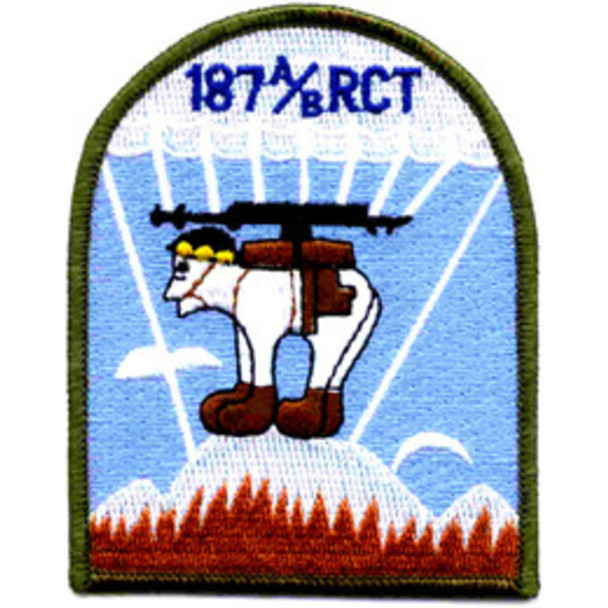 187 A/B RCT Patch Airborne Infantry Regimental Combat Team