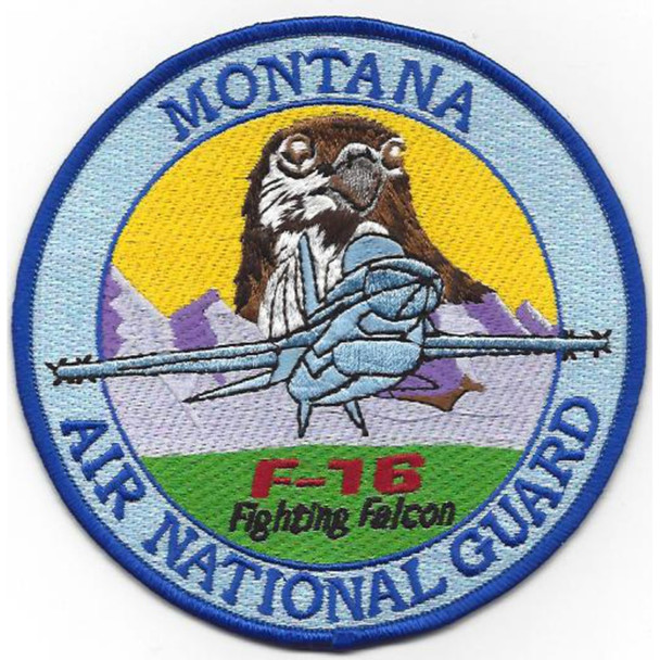 186th Fighter Squadron Montana Air National Guard Patch F-16 Fighting Falcon