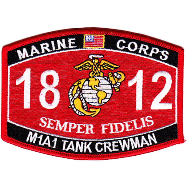 1812 M1A1 Tank Crewman MOS Patch
