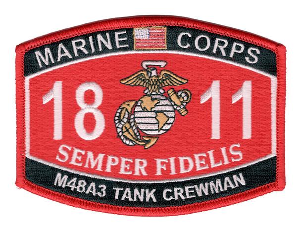 1811 MOS M48A3 Tank Crewman Patch