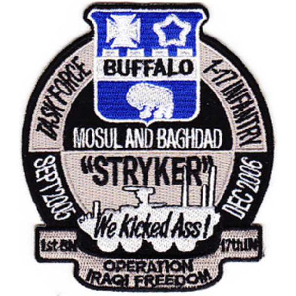 17th Infantry Regiment Patch Mosul And Baghdad We Kicked Ass