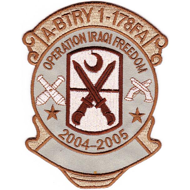 178th Field Artillery Regiment A Battery Patch