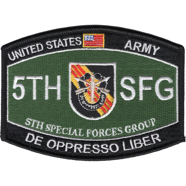 5th Special Forces Group Military Occupational Specialty MOS Patch De Oppresso Liber
