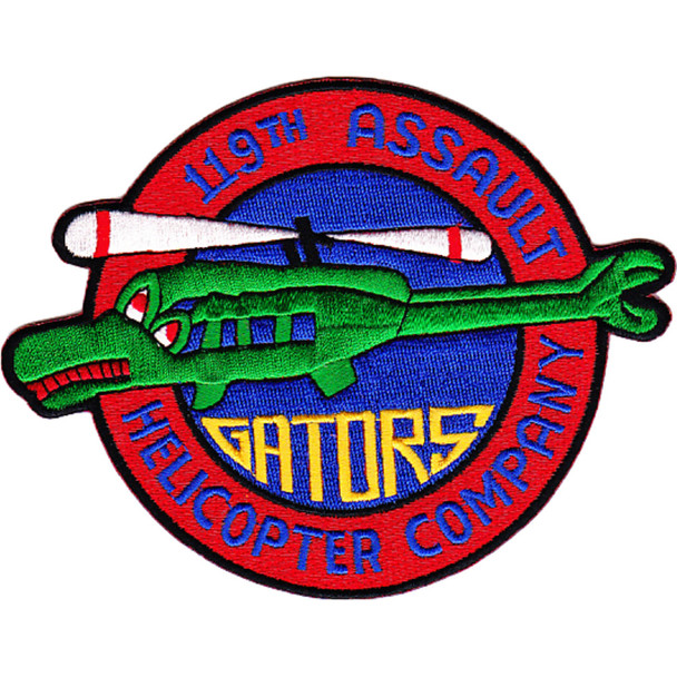119th Aviation Assault Helicopter Company Patch Gators