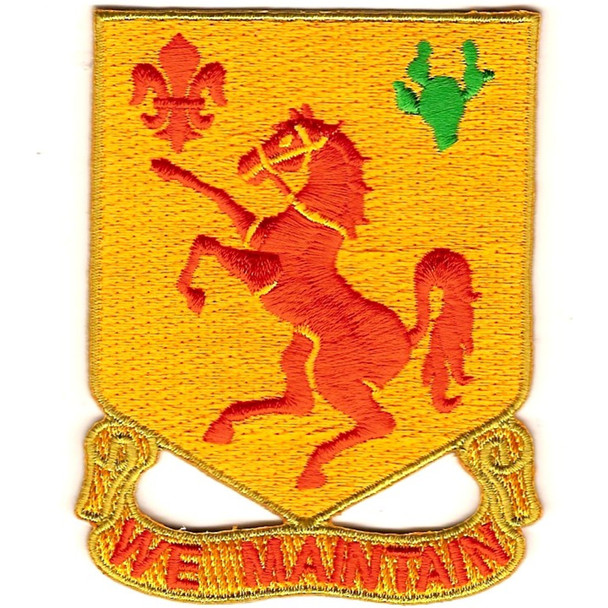 113th Cavalry Regimen Patch