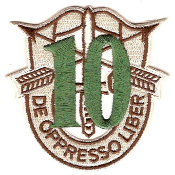 10th Special Forces Group Crest Desert Green 10 Patch