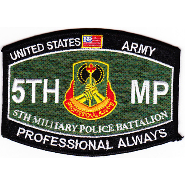 5th Military Police Battalion Military Occupational Specialty MOS Rating Patch Professional Always