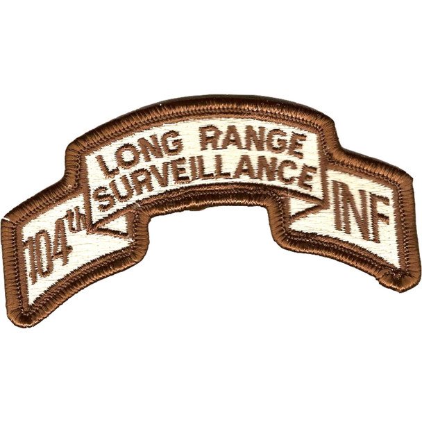 104th LRS Infantry Desert Patch