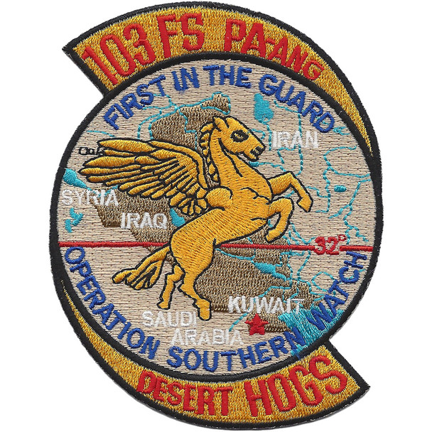 103rd Fighter Squadron Operation Southern Watch Patch