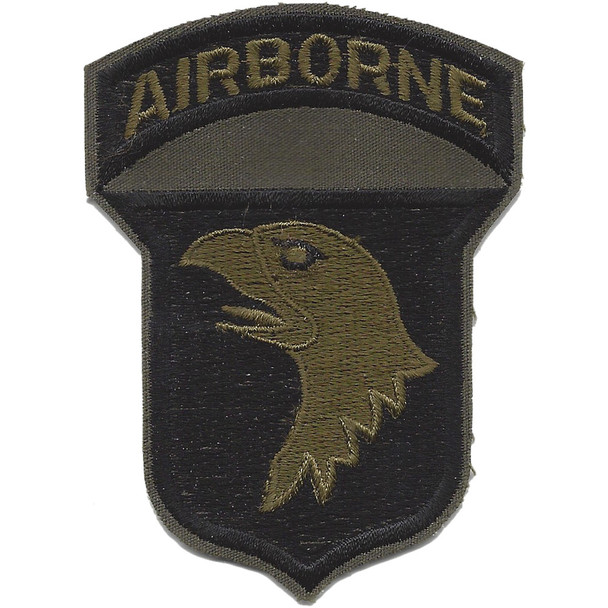 101st Airborne Division Patch Subdued Negative - B Version