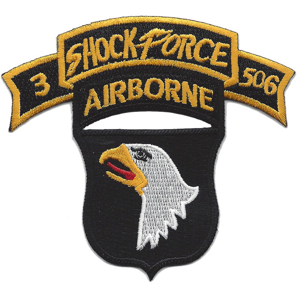 101st Airborne Division 506th Airborne Infantry Regiment 3nd Battalion Shock Force Patch