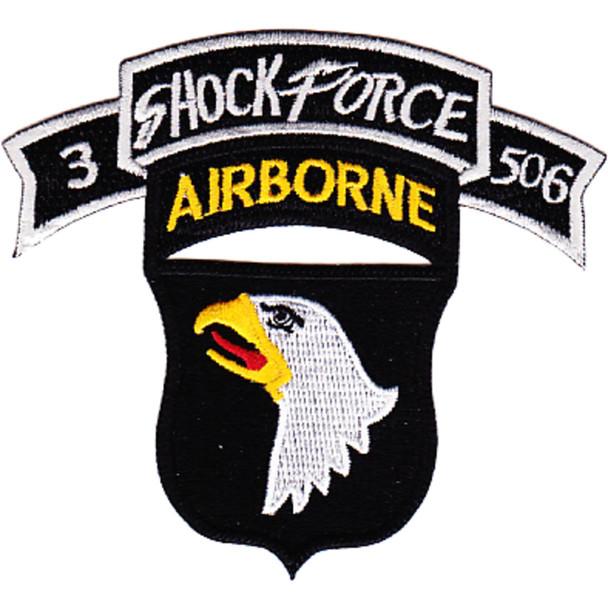 101st Airborne Division 506th Aiborne Infantry Regiment 3rd Battalion Shock Force Patch