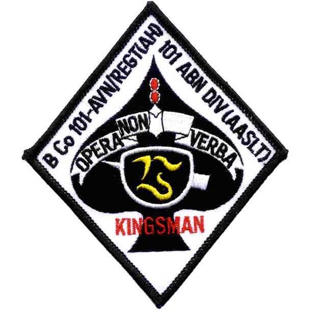101st Airborne Aviation Division 101st Regiment B Company Patch