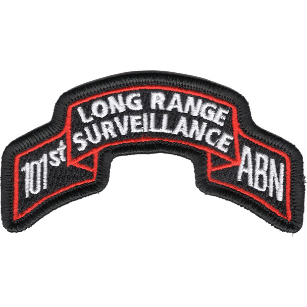 101st Abn Inf Long Range Scroll Patch