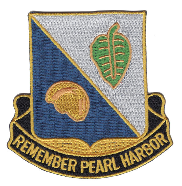 100th Infantry Bn Patch - Remember Pearl Harbor