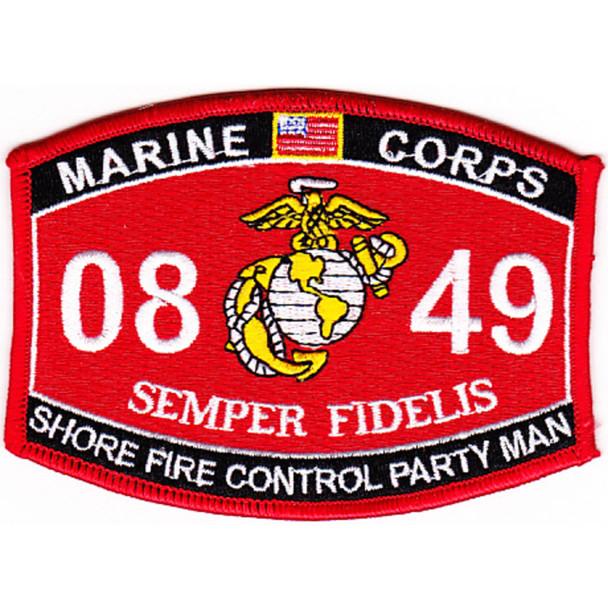 0849 Shore Fire Control Party Man MOS Patch