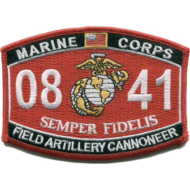 0841 Field Artillery Cannoneer MOS Patch