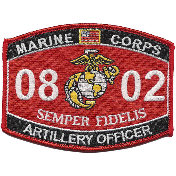 0802 Artillery Officer MOS Patch