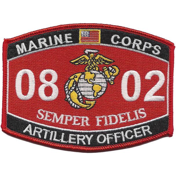 0802 Artillery Officer MOS Patch