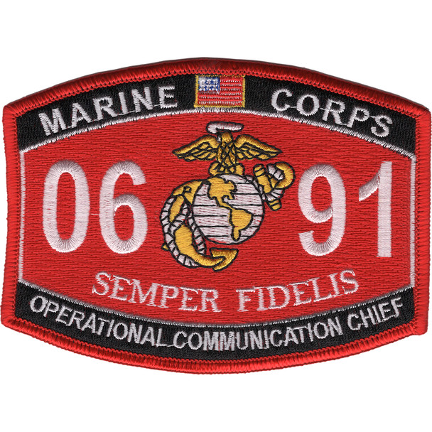 0691 Operational Communication Chief MOS Patch