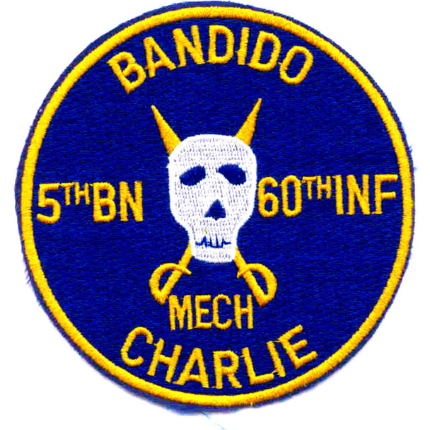 5th Battalion Of The 60th Infantry Regiment Patch Bandido Mech Charlie