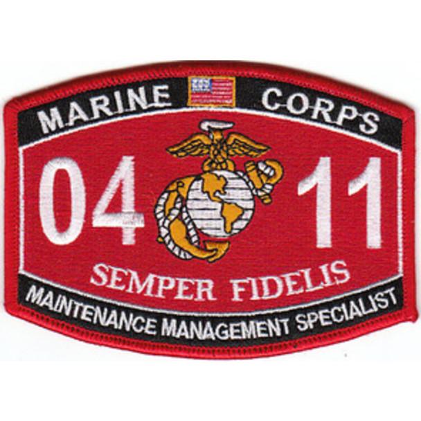 0411 Maintenance Management Specialist MOS Patch