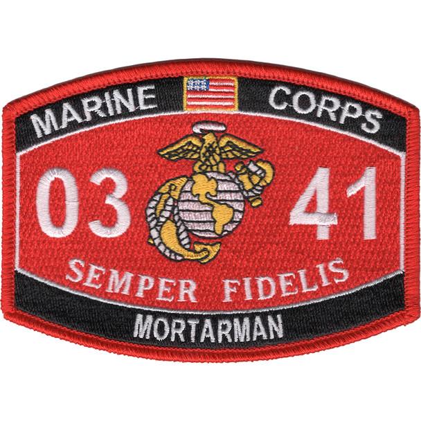 0341 Mortarman MOS Patch