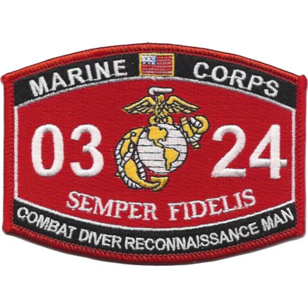 0324 Combat Diver Reconnaissance Man MOS Patch