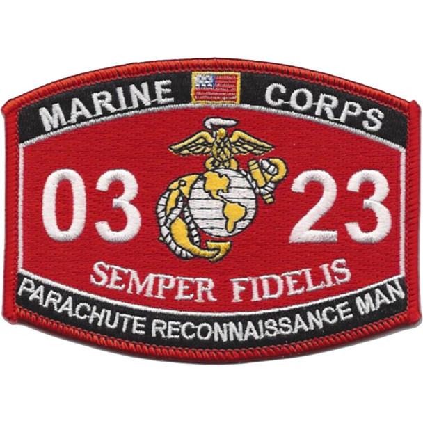 0323 Parachute Reconnaissance Man MOS Patch