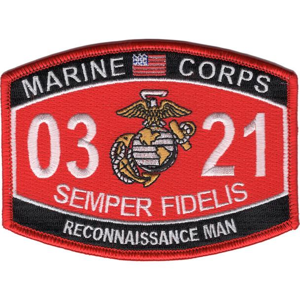 0321 Reconnaissance Man MOS Patch
