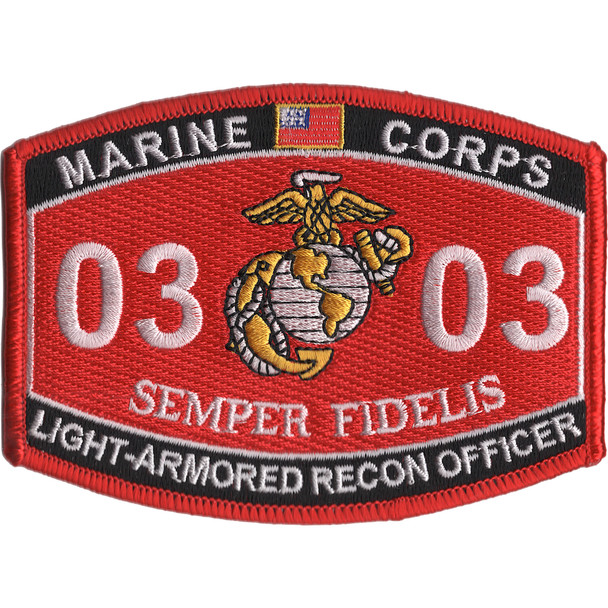 0303 Light Armored Recon Officer MOS Patch