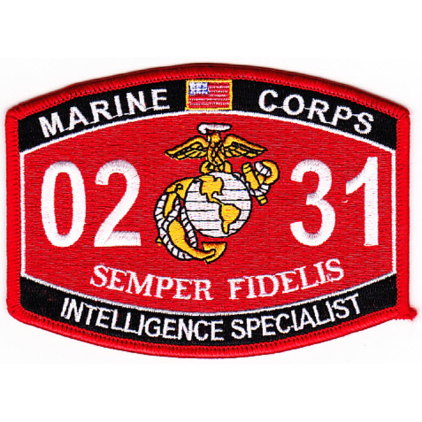 0231 Intelligence Specialist MOS Patch