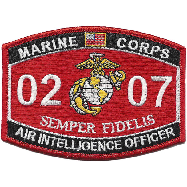 0207 Air Intelligence Officer Mos Patch
