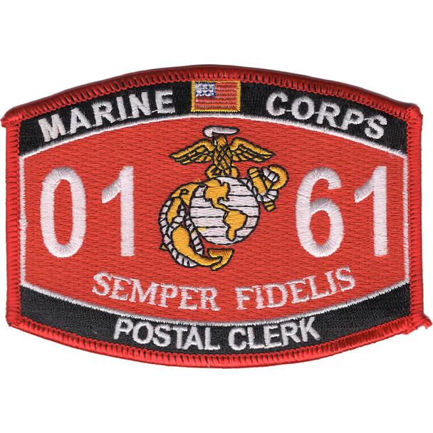 0161 Postal Clerk MOS Patch