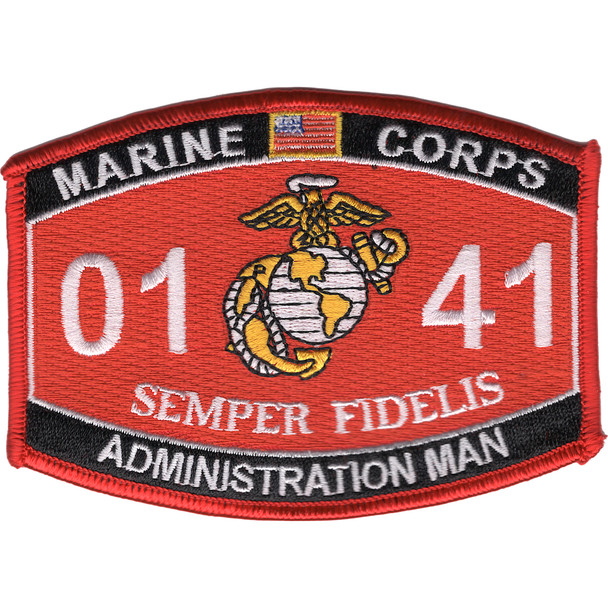 0141 Administration Man MOS Patch