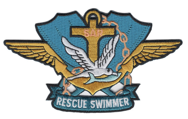 SAR Search & Rescue Swimmer Badge Patch Color