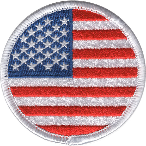 Round United States Flag Patch