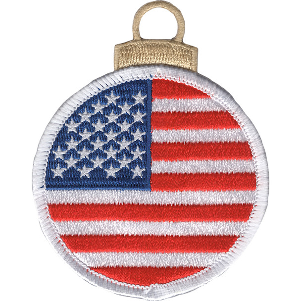 Round Flag Christmas Tree Ornament