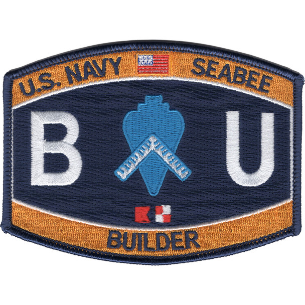 Navy Seabee Builder Rating Hat Patch