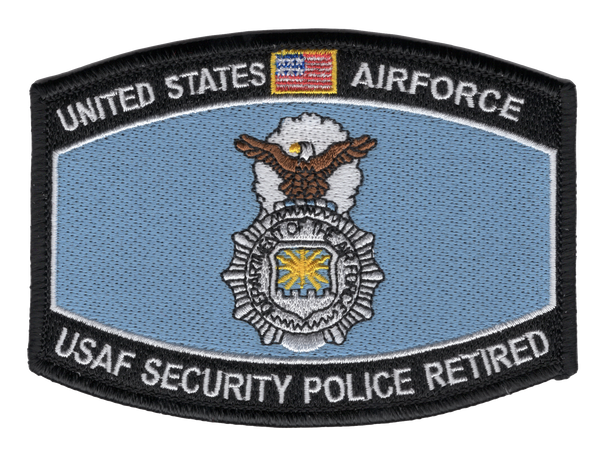 Security Police Retired Patch
