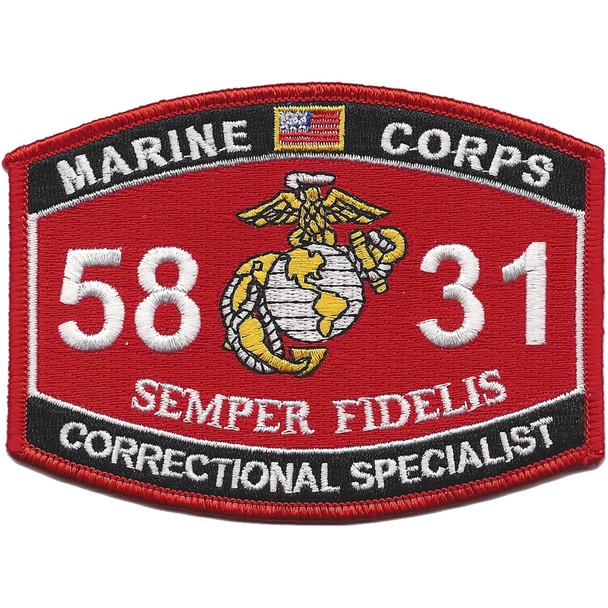5831 MOS Correctional Specialist Patch