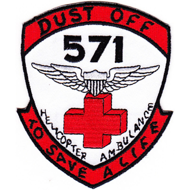 571st Aviation Medical Company Air Ambulance Dust Off Patch