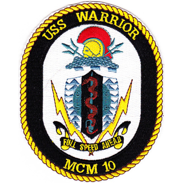 MCM-10 USS Warrior Patch