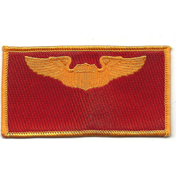 Pilot Wings Air Force Patch Gold And Red