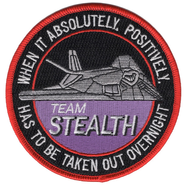 Lockheed F-117 Nighthawk Stealth Fighter Team Patch