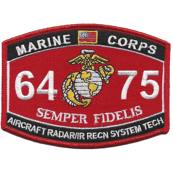 MOS 6475 Aircraft Radar, IR Recon. System Tech. Patch