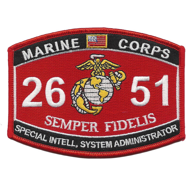 MOS 2651 Special Intelligence System Administrator Patch